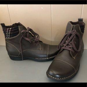 Clark's brown boots